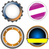 Circle form set Royalty Free Stock Image