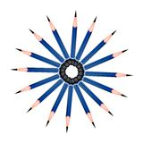 A Circle Formed of Sharpened Pencils on White Back Royalty Free Stock Photo