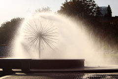 Circle fountain Royalty Free Stock Image