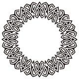 Circle frame. Black ornamental circle frame Royalty Free Stock Photos