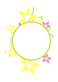 Circle Frame. Curve shape with flowers in the circle frame royalty free illustration