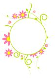 Circle Frame. Curve shape with flowers in the circle frame vector illustration