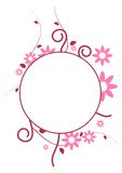 Circle Frame. Curve shape with flowers in the circle frame stock illustration