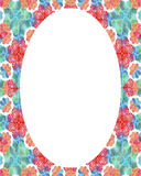 Circle Frame Background with Colorful Decorated Borders. White circle frame background with colorful decorated design borders Royalty Free Stock Photo