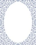 Circle Frame Background with Decorated Borders. White circle frame background with decorated design borders Royalty Free Stock Photos