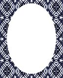 Circle Frame Background with Decorated Borders. White circle frame background with decorated design borders Stock Photos