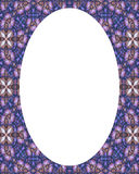 Circle Frame Background with Decorated Borders Royalty Free Stock Photo