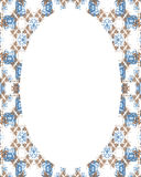Circle Frame Background with Decorated Borders Royalty Free Stock Photography