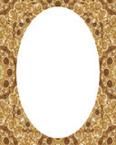 Circle Frame Background with Decorated Borders. White circle frame background with decorated design borders Stock Image
