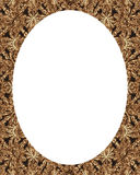 Circle Frame Background with Decorated Ornate Borders. White circle frame background with decorated ornate design borders Stock Photo