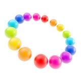 Circle frame background made of spheres Royalty Free Stock Photos