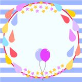 Circle Frame Birthday Card Template Royalty Free Stock Photography