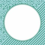 Circle Frame. With blue texture background Stock Image