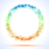 Circle frame with color sparks Royalty Free Stock Image