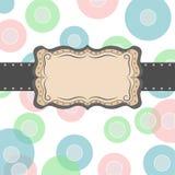 Circle frame Stock Image