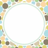 Circle Frame. Circle frame with colorful texture background Vector Illustration