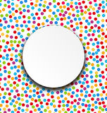 Circle Frame on Confetti Background Royalty Free Stock Photos