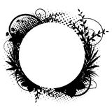 Circle frame with floral decorations 2. Vector royalty free illustration