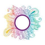 Circle frame with floral ornament Royalty Free Stock Images