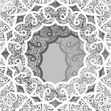 Circle frame lace pattern, vintage ornament, embroidery, mandala. Stock clip art illustration stock illustration