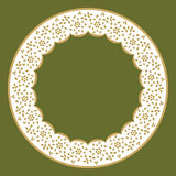 Circle frame of lace Royalty Free Stock Photo