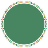 Circle frame of plant leaves Stock Photos