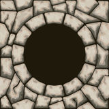 Circle frame with stone seamless pattern Stock Photos