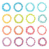 Circle frame vector collection. Hand drawn coloring round frames Stock Photo