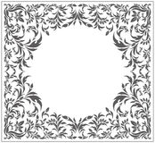 Circle frame with vintage, floral ornament Stock Photos