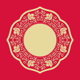 Circle frames of Chinese Style. Design element Stock Photo