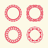 Circle frames of Chinese Style Royalty Free Stock Photography