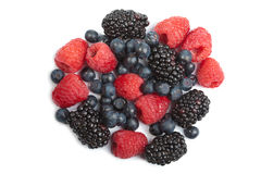 Circle of fresh berries isolated Royalty Free Stock Image