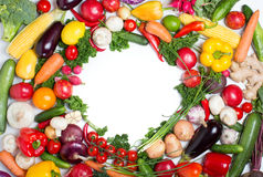 Circle fresh vegetables. Circle made with fresh vegetables Royalty Free Stock Photos