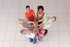 Circle of friends. Holding hands Royalty Free Stock Image