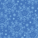 Circle of friends seamless pattern background Royalty Free Stock Photo