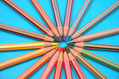 Circle From Coloured Pencils Royalty Free Stock Photography
