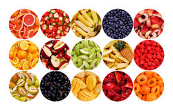 Circle of Fruits Stock Image