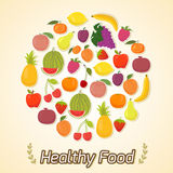 Circle from fruits, healthy food Stock Photo