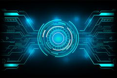 Circle futuristic technology vector design. Stock Images
