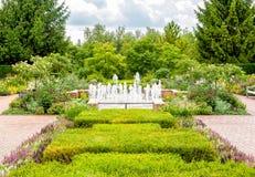 Circle garden area at Chicago Botanic Garden. Stock Photo