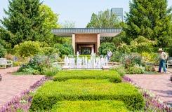 Circle garden area in the Chicago Botanic Garden, USA Stock Photography