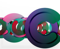 Circle geometric abstract background, colorful business or technology design for web Stock Images