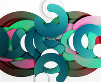 Circle geometric abstract background, colorful business or technology design for web Royalty Free Stock Images