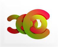 Circle geometric abstract background, colorful business or technology design for web Stock Photos