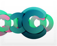 Circle geometric abstract background, colorful business or technology design for web Stock Photo