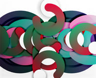 Circle geometric abstract background, colorful business or technology design for web Royalty Free Stock Photography