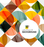 Circle geometric abstract background Stock Photography