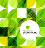 Circle geometric abstract background Stock Images