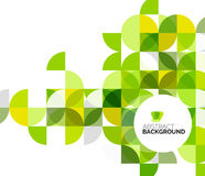 Circle geometric abstract background stock illustration