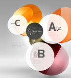 Circle geometric abstract background. Colorful business or technology design for web on white with sample text Royalty Free Stock Photography